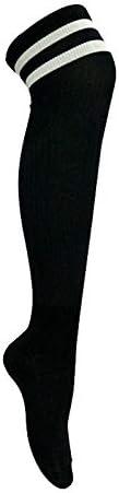 スポーツソックス 靴下 大人の子供のサッカーソックスニーソックス上の長いチューブソックス卸売薄いセクション耐摩耗性高弾性スポーツソックス (Color : Black, Size : Kid code)