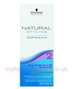 Schwarzkopf Natural Styling - Hydrowave Glamour Wave KIT 2 Schwarzkopf - professionelle Dauerwelle für gefärbtes, gesträhntes, poröses Haar