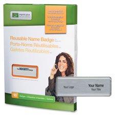 Imprint Plus Professional Reusable Silver Name Badges (IPP3379) by Imprint Plus