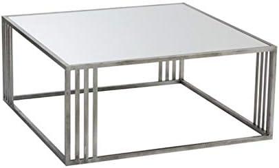 Table biago Paris en Prix Design Métal Basse 100cm Argent ARj4L5