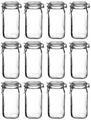 Bormioli Rocco Fido Vaso Square Jar, 50.75 Ounces,