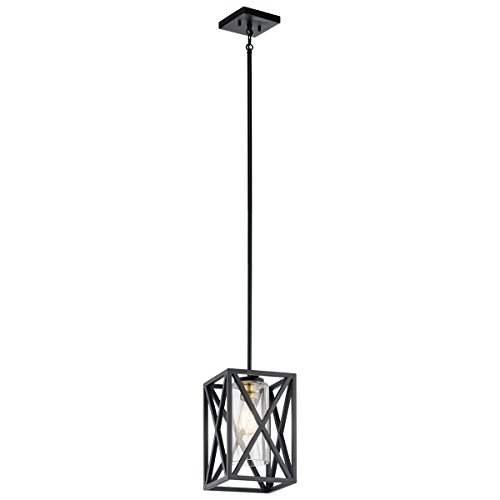 Mini Pendants 1 Light with Black Finish Steel Drum Material Medium 8 inch 75 Watts