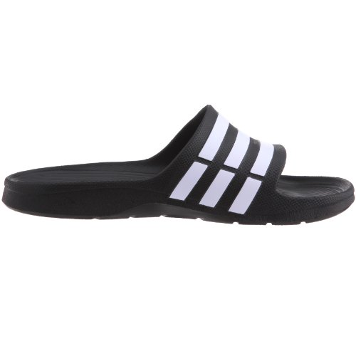 ad61ded5b91c Adidas Men s Duramo Slide Black and White Flip-Flops and House Slippers - 11  UK India (46 EU)  Buy Online at Low Prices in India - Amazon.in