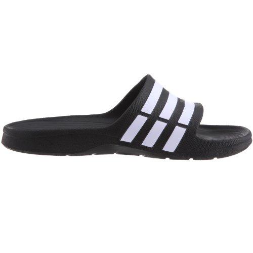 Adidas Slide Adulte black Mixte Noir Piscine Plage De amp; Chaussures white black Duramo 0 fgxrwqf