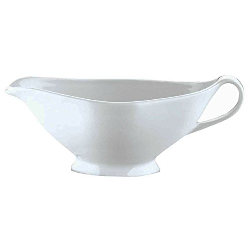 (Pillivuyt, French Porcelain Traditional Open 8 Inch Sauce Boat/Gravy Boat, 10 ounces, Microwaveable, Oven to Table)