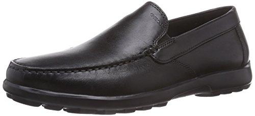 Geox U Mantra D - Zapatos con Cordones de Cuero Hombre, Color Negro, Talla 42