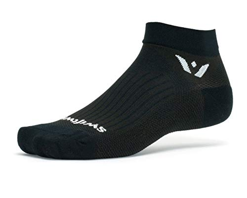 - Swiftwick- PERFORMANCE ONE | Socks Built for Golf | Fast Drying, Lightweight, Cushioned Ankle Socks | Black, Medium