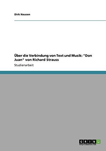 Über die Verbindung von Text und Musik Don Juan von Richard Strauss  [Hausen, Dirk] (Tapa Blanda)