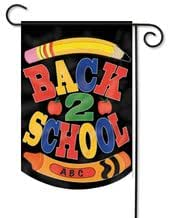 Back to School Applique Garden Flag - 2 Sided