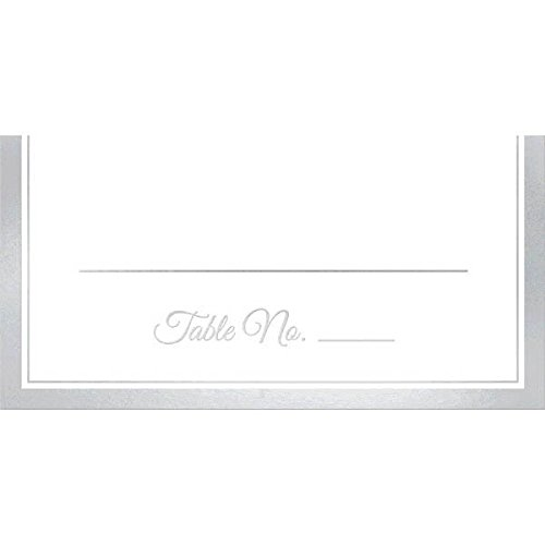 (Durable Party Friendly Place Card with Silver Trim Tableware, Paper, 4