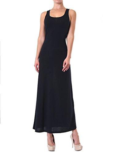 Women's Classic Racerback Tank Top Maxi Dress (M, Black)