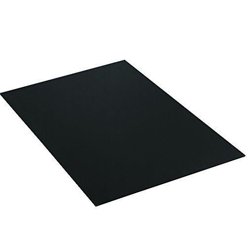 Aviditi PCS4896BSK Plastic Sheets, 48'' W x 96'' L, Black (Pack of 200) by Aviditi