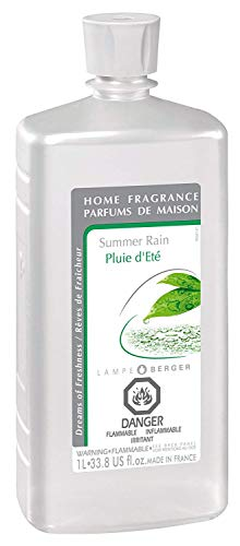(Summer Rain | Lampe Berger Fragrance Refill for Home Fragrance Oil Diffuser | Purifying and perfuming Your Home | 33.8 Fluid Ounces - 1 Liter | Made in France)