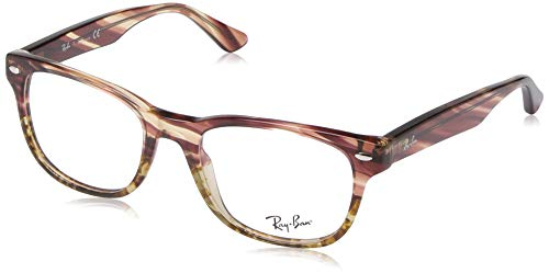 Ray Charles Glasses (Ray-Ban RX5359 Square Eyeglass Frames, Striped Pink Gradient Beige/Demo Lens, 51)