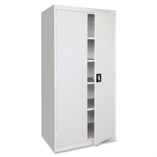 Lorell LLR41309 Fortress Series Storage Cabinets, Light Gray