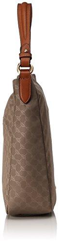 Joop Damen Nylon Cornflower Dina Hobo Lvz Schultertasche, 10.5x31.5x32 cm Beige (Beige)