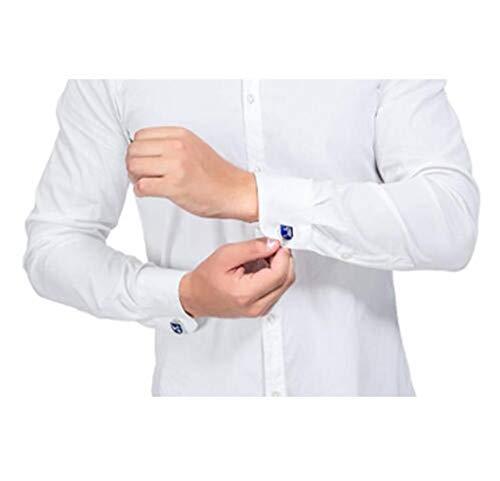 Shirts Silver Wedding 1 Cufflinks Pair World Map Men's Color Set RXBC2011 Blue Sf7x8tw