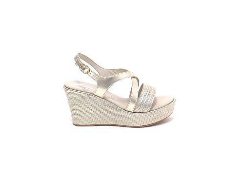 Susimoda - Sandalias de vestir para mujer gris Platino