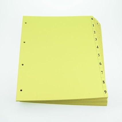 Office Line hojas separadoras, Amarillo, 250 g, 4 agujeros ...