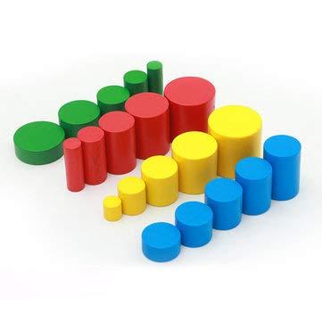A RanDal Ni/ños Montessori Juguetes Sensoriales De Madera Beb/é Pr/áctica De Desarrollo Educativo Temprano Regalo De Juguetes De Cilindro Colorido