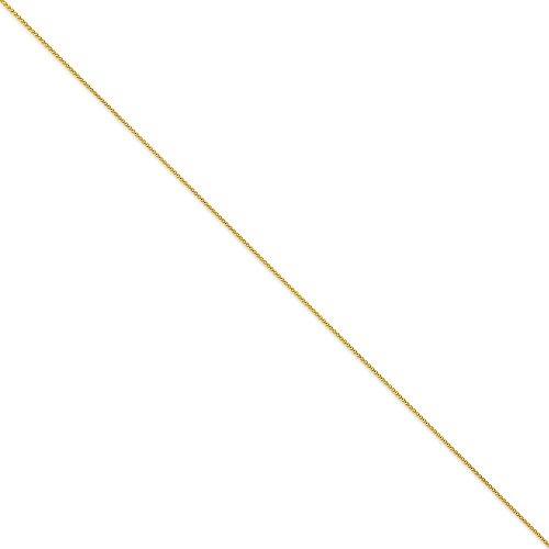 """Froment (blé), 1 mm 14 carats rond Bracelet chaine 7 """"Motif JewelryWeb"""