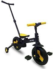 Joyano 5-in-1 Kids Tricycle/Balance Bike/Push Bike with Pushbar for 2-8 Yrs Kids