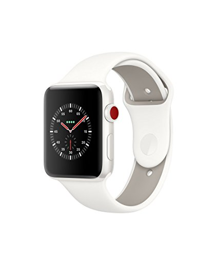 Apple Watch Series 3 Edition – GPS+Cellular – White Ceramic Case with Soft White/Pebble Sport Band – 42mm