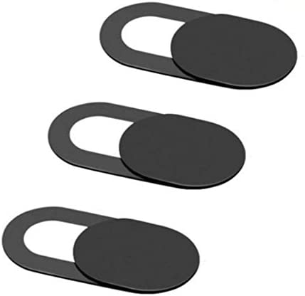 dobrygalpe 3 pcs Webcam Cover Ultra Thin Camera Cover Slide Universal Camera Cover Sticker for Protecting Your Privacy or Computer, Tablet, Echo, Chromebook & More,Black
