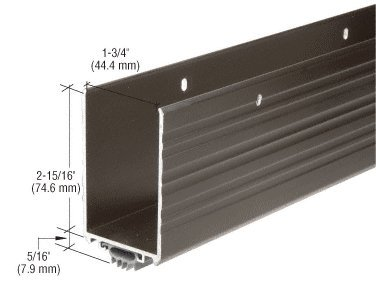 CRL Dark Bronze Anodized Finish Wrap Around Door Shoe with Vinyl Weatherseal for 36'' Door