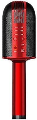 Youshangshipin カラオケ、マイク、オーディオ1、携帯電話、ワイヤレスBluetoothホーム、歌うアーチファクト、赤 。 マイクは持ちやすいです。 (Color : Red)