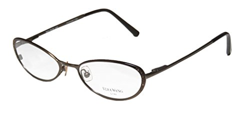 Vera Wang Epiphany I Womens/Ladies Rxable Collectible Designer Full-rim Titanium Rhinestones Spring Hinges Eyeglasses/Eye Glasses (51-17-135, - Rimless Drill Mount Glasses