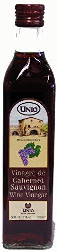Unio Cabernet Sauvignon Red Wine Vinegar 500ml (17oz) - Vinegar Moscatel