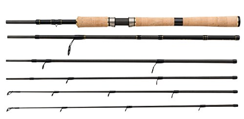 SHIMANO BeastMaster S.T.C. Spinning Twin Tip, Castingweight 0.25oz-0.74oz Or 0.50oz-1.40oz, 8.30ft Or 6.70ft, 5 Parts Travel Spinning Fishing Rod, TBMSP2520