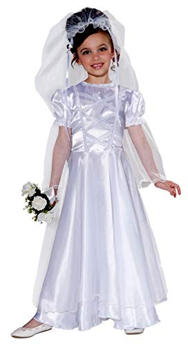 Forum Novelties Little Bride Wedding Belle Child Costume Dress and Veil, Medium