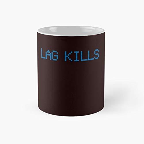 Lag kills Mug, level unlocked Funny Mugs, 11 Ounce Ceramic Mug, Perfect Novelty Gift Mug, Tea Cups, Funny Coffee Mug 11oz, Tea Mugs ()