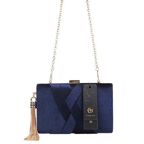 Bonjanvye Pochette S Femme Pour Uk18136 Bleu TCrqTAw