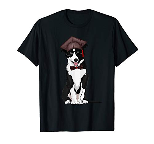 - Border Collie With Graduation Cap Graduation Tshirt Gifts
