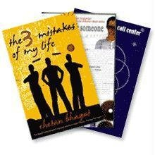 Chetan Bhagat - 3 Books in 1; The 3 Mistakes of My Life; One Night At The Call Center; Five Point Someone (1)