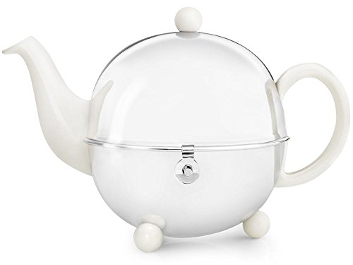 bredemeijer Cosy Teapot, 1.3-Liter, Ceramic Spring White with Insulted Shell