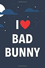 I Love Bad Bunny: Lined Notebook with Monthly Planner for Fans Paperback