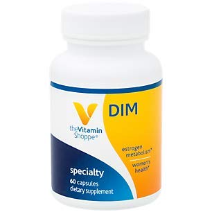 The Vitamin Shoppe DIM 100MG with Bioperine Black Pepper Extract, Supports Estrogen Metabolism for Women