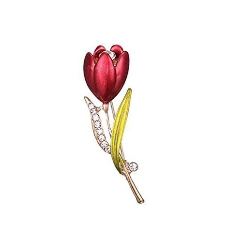 Fenical Broches de Flor Elegante de Aleación Decoraciones de Ropas Reglo Ideal para Mujeres Niñas