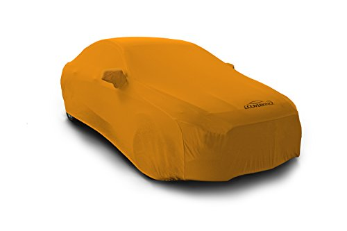 Coverking Custom Fit Car Cover for Select Cadillac CTS Models - Satin Stretch (Rust Orange)