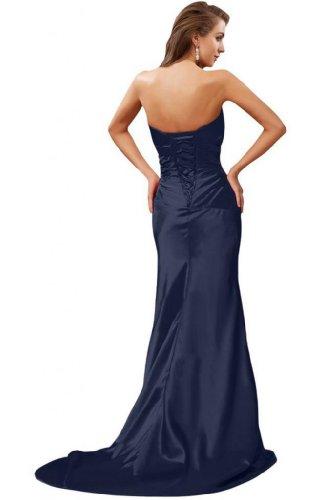 Dark da senza sirena per elegante abiti sera Navy spalline Sunvary in stile 6Ov7qqw