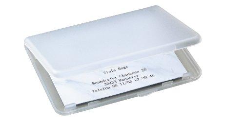 Sigel VA140 Visitenkarten-Etui transparent matt, für 25 Karten, Kunststoff