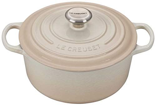 Le Creuset Signature Meringue Enameled Cast Iron 4.5 Quart Round Dutch Oven