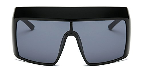 Slocyclub New Hip Fashion Mirrored Flat Top Oversized Goggle - Sunglasses Ebay Costa
