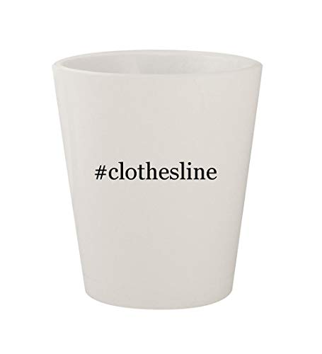 #clothesline - Ceramic White Hashtag 1.5oz Shot Glass