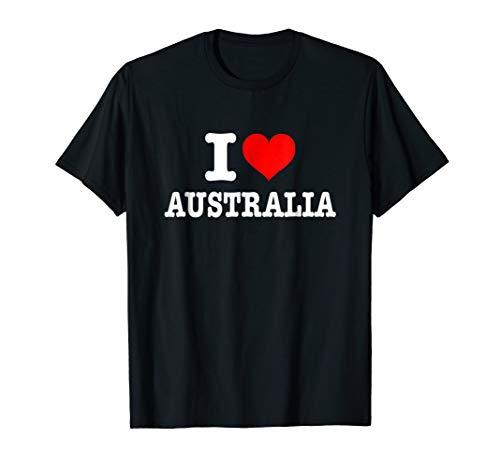 I Love Australia T-Shirt - I Heart Australia Shirt