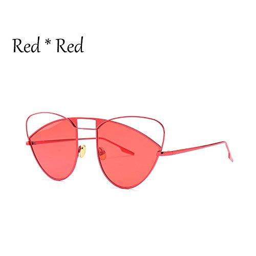 Lujo Red Gato C3 De Hueco Mujer Grande Señoras Gafas Bastidor Ojo Uv Sombras Sexy Naranja Sol Rosa TIANLIANG04 De De Gafas De C4 Gafas Red Gradiente Sx6fYq